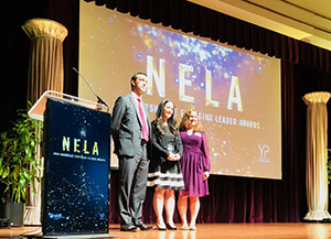 Jade Sampson holds NELA at Nashville Ceremony